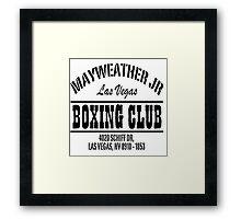 Mayweather Boxing Club Framed Print
