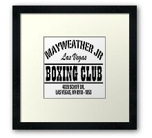 Mayweather Boxing Club Framed Print
