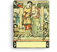 The Sleeping Beauty Picture Book Plate - He Led Her from the Hall Canvas Print