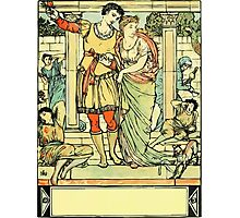 The Sleeping Beauty Picture Book Plate - He Led Her from the Hall Photographic Print
