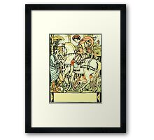 The Sleeping Beauty Picture Book Plate - An Aged Peasant Told of an Enchanted Palace Framed Print