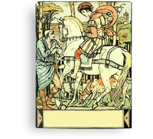The Sleeping Beauty Picture Book Plate - An Aged Peasant Told of an Enchanted Palace Canvas Print