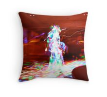 She danced throughout the night. Throw Pillow