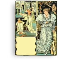 The Sleeping Beauty Picture Book Plate - Bluebeard - I'll Say Good-bye, My Dear Canvas Print