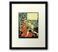 The Sleeping Beauty Picture Book Plate - Bluebeard - The Cut The Murderer Down Framed Print