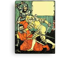 The Sleeping Beauty Picture Book Plate - Bluebeard - The Cut The Murderer Down Canvas Print