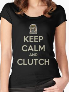 Keep Calm and Clutch Women's Fitted Scoop T-Shirt