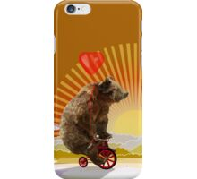 Big Bear with bicycle iPhone Case/Skin