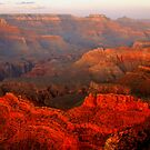 Grand Canyon Sunset From Hopi Point by Stephen Vecchiotti