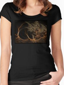 """Forest's Edge"" - Fractal Art Women's Fitted Scoop T-Shirt"