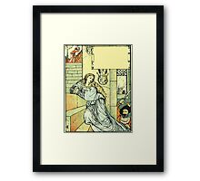 The Sleeping Beauty Picture Book Plate - Bluebeard - Come Down, Time Is Up Framed Print