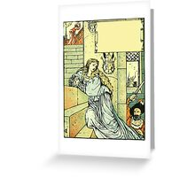 The Sleeping Beauty Picture Book Plate - Bluebeard - Come Down, Time Is Up Greeting Card