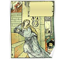 The Sleeping Beauty Picture Book Plate - Bluebeard - Come Down, Time Is Up Poster