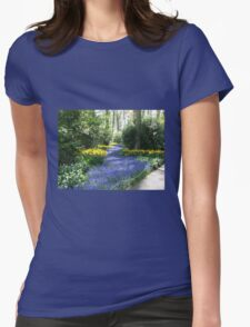 River of Blue - Flower Lane in the Keukenhof Gardens T-Shirt