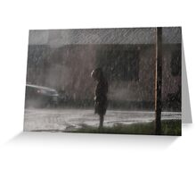 Alone in the Rain Greeting Card