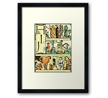 The Sleeping Beauty Picture Book Plate - The Baby's Own Alphabet - Hh Ii Jj Framed Print
