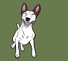 Excited Bull Terrier  by Sookiesooker