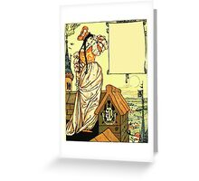 The Sleeping Beauty Picture Book Plate - Bluebeard - O Sister Anne, Go Up, Go Up, And Look Out From The Tower Greeting Card