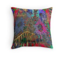 The Temples of Spring Throw Pillow