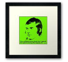 Green Grow The Rashes O Framed Print