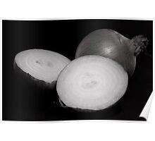 Still life onions Poster