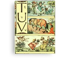 The Sleeping Beauty Picture Book Plate - The Baby's Own Alphabet - Tt Uu Vv Canvas Print