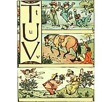 The Sleeping Beauty Picture Book Plate - The Baby's Own Alphabet - Tt Uu Vv Photographic Print