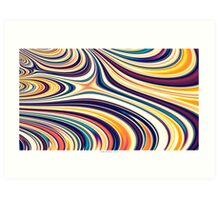 Color and Form Abstract - Curved Rounded Lines Flowing  Art Print
