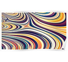 Color and Form Abstract - Curved Rounded Lines Flowing  Poster