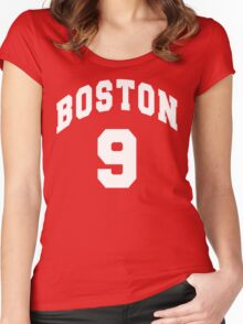 Jack Eichel - BU #9 - red jersey Women's Fitted Scoop T-Shirt