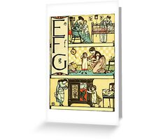 The Sleeping Beauty Picture Book Plate - The Baby's Own Alphabet - Ee, Ff, Gg Greeting Card
