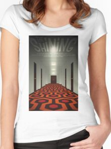 The Shining alternative movie poster Women's Fitted Scoop T-Shirt