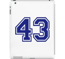 Number 43 iPad Case/Skin