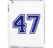 Number 47 iPad Case/Skin