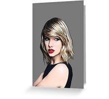 Taylor Swift Black Greeting Card