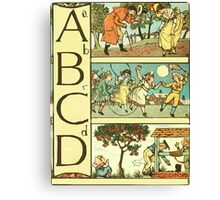 The Sleeping Beauty Picture Book Plate - The Baby's Own Alphabet - Aa Bb Cc Dd Canvas Print