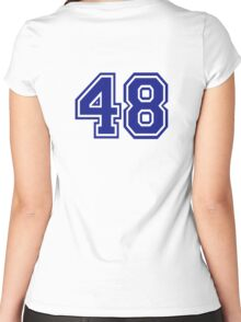 Number 48 Women's Fitted Scoop T-Shirt