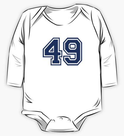 Number 49 One Piece - Long Sleeve