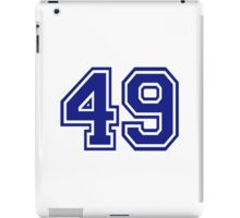 Number 49 iPad Case/Skin