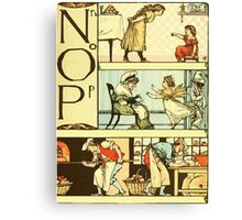 The Sleeping Beauty Picture Book Plate 011  - The Baby's Own Alphabet - Nn, Oo, Pp Canvas Print