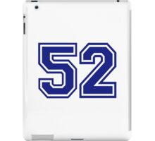 Number 52 iPad Case/Skin