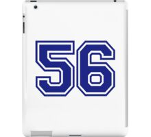 Number 56 iPad Case/Skin