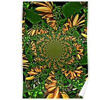Trippy Sunflower Poster