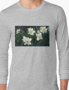 7 ABSTRACT DAFFODILS Long Sleeve T-Shirt