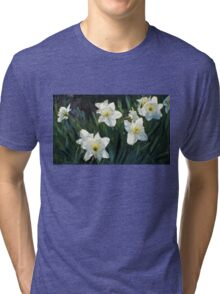 7 ABSTRACT DAFFODILS Tri-blend T-Shirt