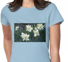 7 ABSTRACT DAFFODILS Womens Fitted T-Shirt