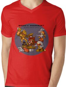 Where's Urabrask? (Round) Mens V-Neck T-Shirt