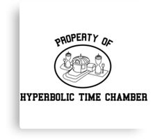 Property of Hyperbolic Time Chamber Canvas Print