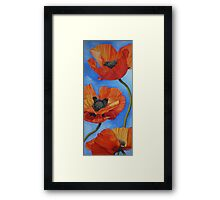 Sky full of Poppies Framed Print