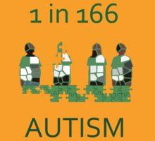Autism 1 in 166 T-shirt by DApixara